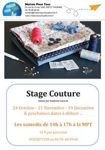 Stage de couture
